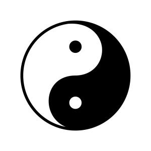 Yin-Yang symbol and synthetic intelligence